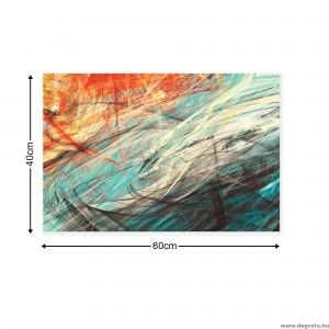 Vászonkép absztrakció 3 3D S