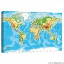 Vászonkép Világtérkép 1