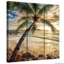 Vászonkép szett 3 darabos Napnyugta a Bahamákon