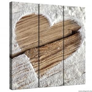 Vászonkép szett 3 darabos Szerelem  - Szív 1