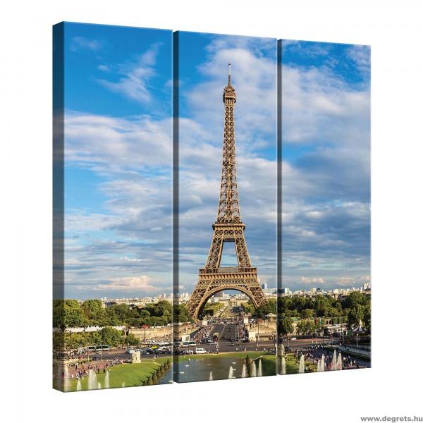 ᐉ Vászonkép szett 3 darabos Eiffel Torony 2 — Degrets
