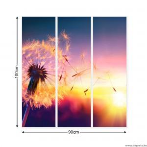 Vászonkép szett 3 darabos Pitypang - napnyugta