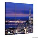 Vászonkép szett 3 darabos Megapolisz San Francisco