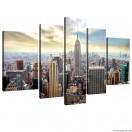 Vászonkép szett 5 darabos New York 1