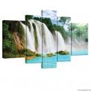 Vászonkép szett 5 darabos Paradicsomi Vízesés 1 3D