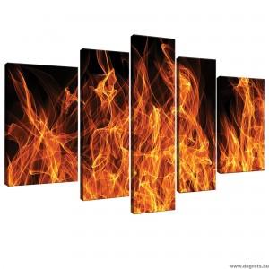 Vászonkép szett 5 darabos Tűz 3D