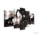 Vászonkép szett 5 darabos absztrakció orchideák 2 3D