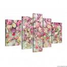 Vászonkép szett 5 darabos Virág fal  3D
