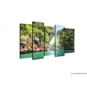 Vászonkép szett 5 darabos Lagúna  1 3D