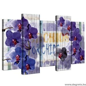 Vászonkép szett 5 darabos lila orchidea
