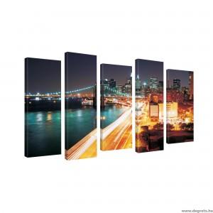Vászonkép szett 5 darabos New York felhőkarcolók