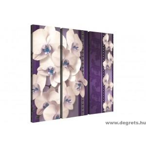 Vászonkép szett 3 darabos Orchidea elegáns 2