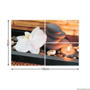 Vászonkép szett 4  darabos Zen