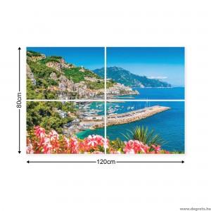 Vászonkép szett 4  darabos Paradicsomi kilátás