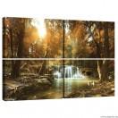 Vászonkép szett 4  darabos erdő Béke 1