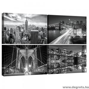 Vászonkép szett 4  darabos Megapolisz New York