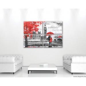 Vászonkép szett 4  darabos London Művészet
