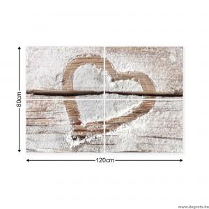 Vászonkép szett 4  darabos Szerelem  - Szív 2
