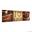 Vászonkép szett 3 darabos Kávé 2