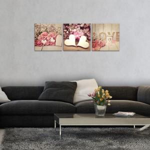 Vászonkép szett 3 darabos Szerelem  művészet