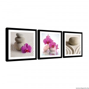 Vászonkép szett 3 darabos Spa orchideák 1