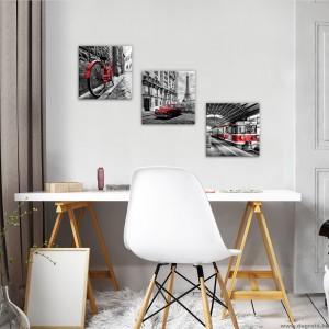 Vászonkép szett 3 darabos Párizs  - retro