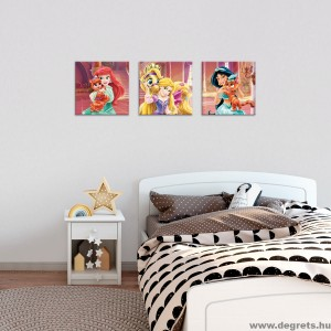 Vászonkép szett 3 darabos Hercegnők - Háziállatok 1
