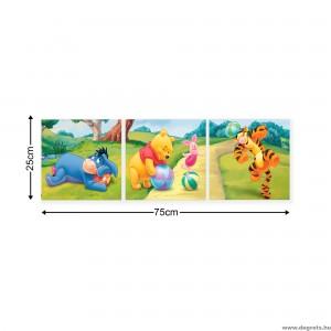 Vászonkép szett 3 darabos Disney Micimackó 2