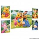 Vászonkép szett 5 darabos Disney Micimackó 3