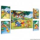 Vászonkép szett 5 darabos Disney Micimackó 4