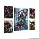 Vászonkép szett 5 darabos  A Bosszúállók  5