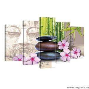 Vászonkép szett 5 darabos Zen kövek 2