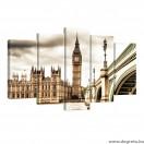 Vászonkép szett 5 darabos Big Ben
