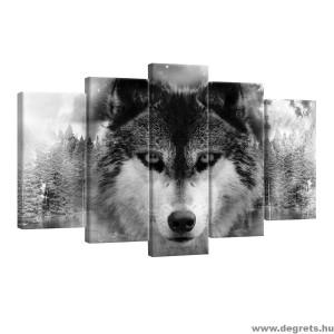 Vászonkép szett 5 darabos Farkas