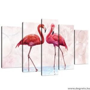 Vászonkép szett 5 darabos Flamingó 1