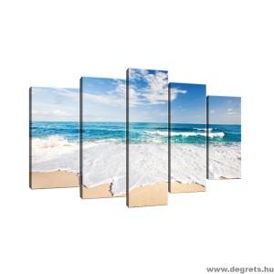 Vászonkép szett 5 darabos Lazur tengerpart