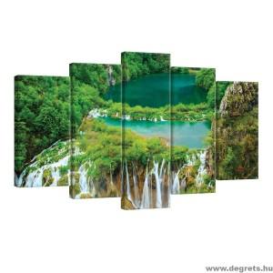 Vászonkép szett 5 darabos Vízesés a dzsungelben