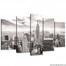 Vászonkép szett 5 darabos New York fekete és fehér