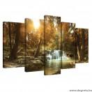 Vászonkép szett 5 darabos erdei Béke 1