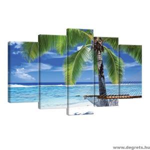 Vászonkép szett 5 darabos A pálmafa alatt