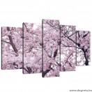 Vászonkép szett 5 darabos Tavaszi színek 2