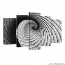 Vászonkép szett 5 darabos  Illúzió 3D forgás