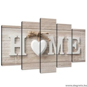 Vászonkép szett 5 darabos Otthon  2