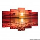 Vászonkép szett 5 darabos Napnyugta 2