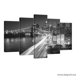 Vászonkép szett 5 darabos New York felhőkarcolók fekete és fehér