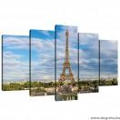 Vászonkép szett 5 darabos Eiffel Torony 2