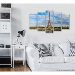 ᐉ Vászonkép szett 5 darabos Eiffel Torony 2 — Degrets