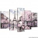 Vászonkép szett 5 darabos Párizs  Művészet 1