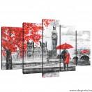 Vászonkép szett 5 darabos London Művészet