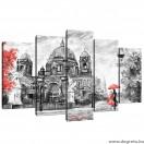 Vászonkép szett 5 darabos Város Művészet